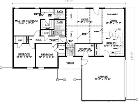 Home Design For Rectangular Plot Floor Plans Aflfpw70638 1 Story Ranch Home With 3