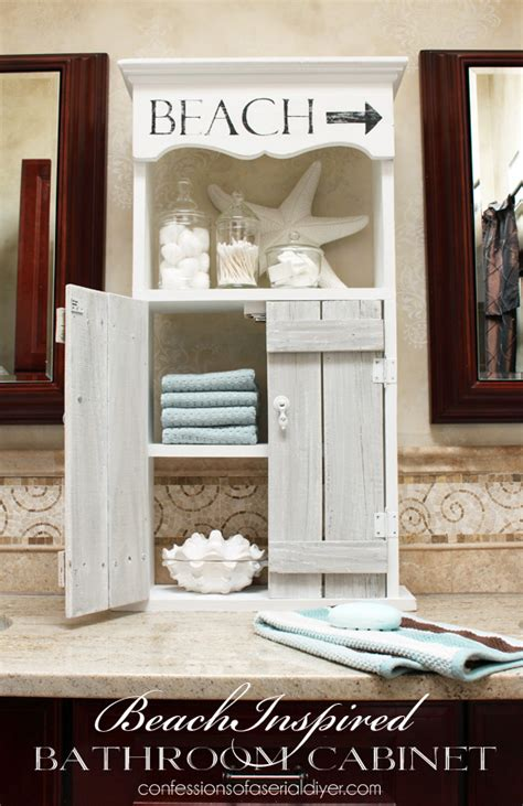 beach bathroom cabinets beach inspired bathroom cabinet confessions of a serial