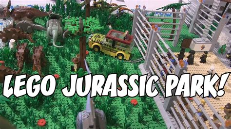 tutorial lego jurassic park lego jurassic park moc youtube