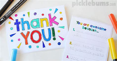 how to make a thank you card in word printable thank you cards to make with your