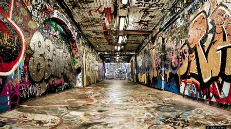 wallpaper 4k graffiti graffiti hip hop rap culture street art tunnel street