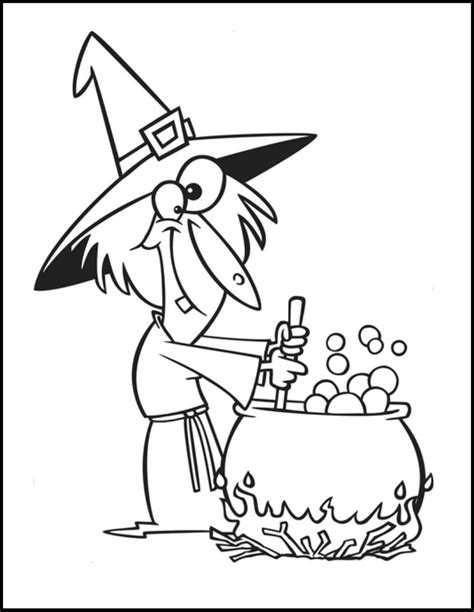 witch cauldron coloring page witches cauldron