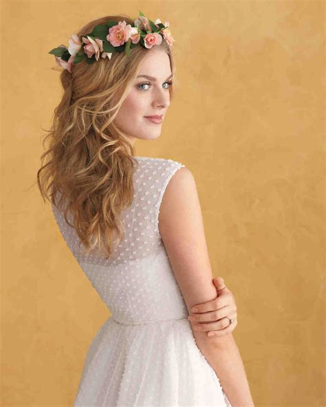Wedding Hair With Roses by Floral Wedding Hairstyles Martha Stewart Weddings