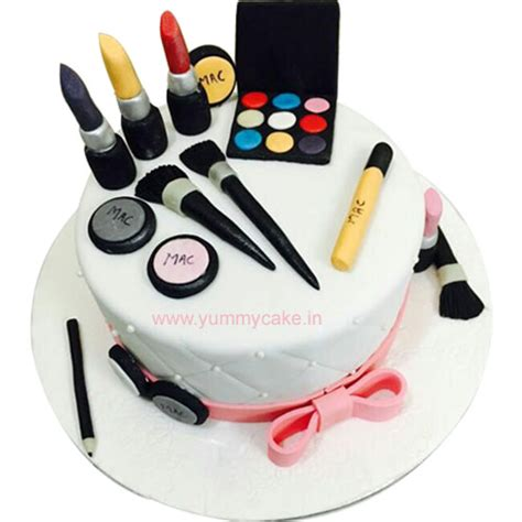 Makeup Birthday Cake for Girls   FaridabadCake Delivery Service