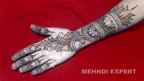 tutorial design expert 7 easy beautiful morrocan style lotus henna mehndi design