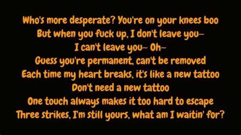 tattoo lyrics by jason derulo jason derulo tattoo explicit lyrics hd youtube
