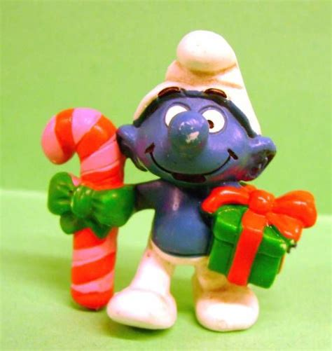 the smurfs schleich 20207 christmas smurf with stick