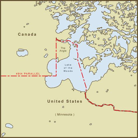 map of the united states and canada map of the united states and canada border