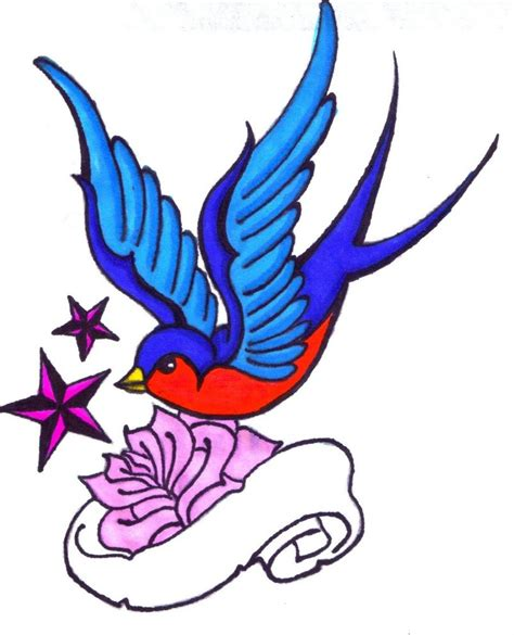 2 swallows tattoo designs