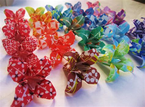 Japanese Flower Origami - 25 japanese origami irises made to order origami flowers