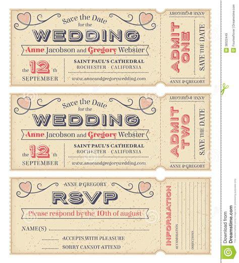 Vintage Ticket Style Wedding Invitations Uk