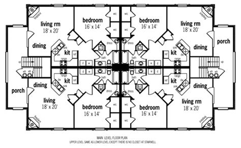 multi family house plans apartment multi family plan 65709 at familyhomeplans com