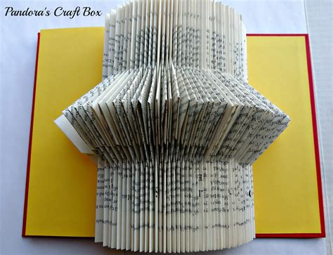 Folded Paper Craft - book folding tutorial origami book fold diy book