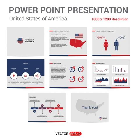 Presentation About The United States Of America Vector State Of The Presentations