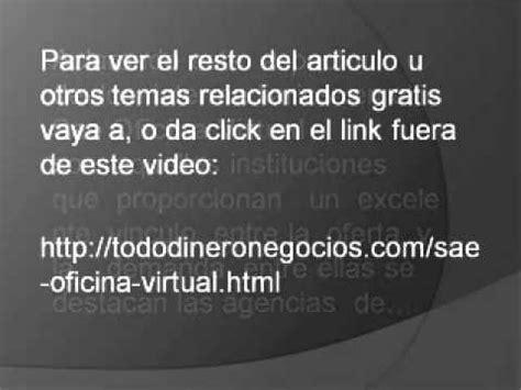 oficina virtual de empleo andaluz sae oficina virtual servicio andaluz de empleo youtube