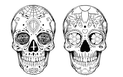 sugar skull tattoo design by alxpalm on deviantart