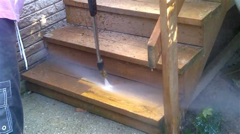 power washing  stain   deck  easy gas