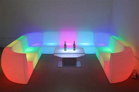 led couch led seat corner couch event bars ltd