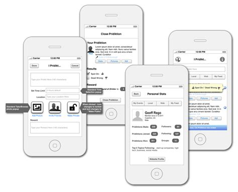 design app wireframe social media app wireframe design