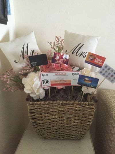 Gift Cards That Make Great Wedding Gifts - gift cards make great fillers in baskets for the happy couple see more bridal shower