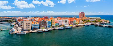 curacao appartments panoramic view of willemstad curacao sea horizon apartments