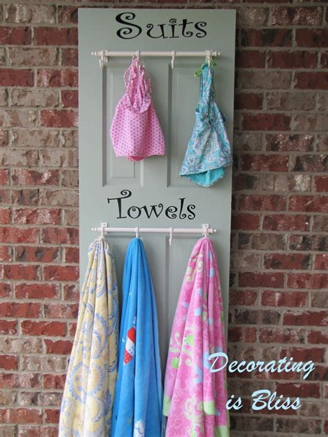 Pool Towel Rack Ideas by Pool Towel Rack Craft Ideas