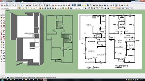 desenhar planta baixa desenhar planta de casas sketchup modelo de sobrado planta baixa casa moderna