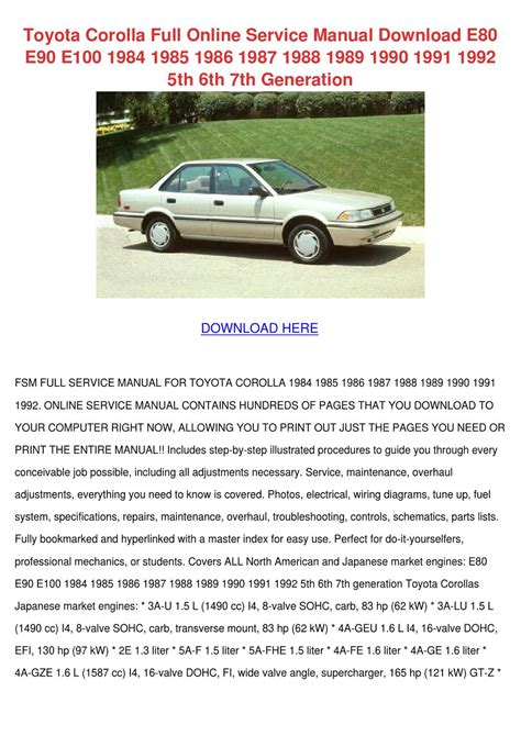 motor auto repair manual 2000 toyota corolla head up display toyota corolla full online service manual dow by willette galbavy issuu