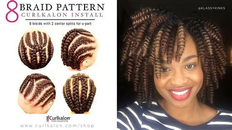 how to braid hair for a middle part sew in 5 of the best crochet braid patterns black girl with
