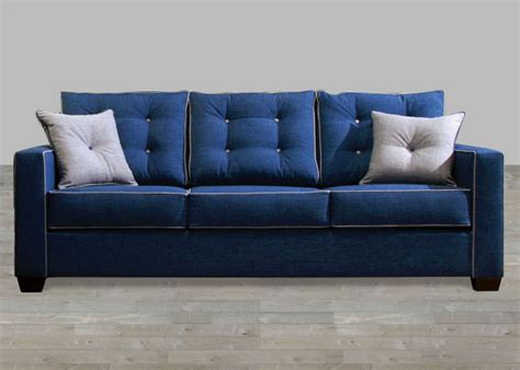 Contemporary Blue Fabric Sofa Fabric Sofas Sofas