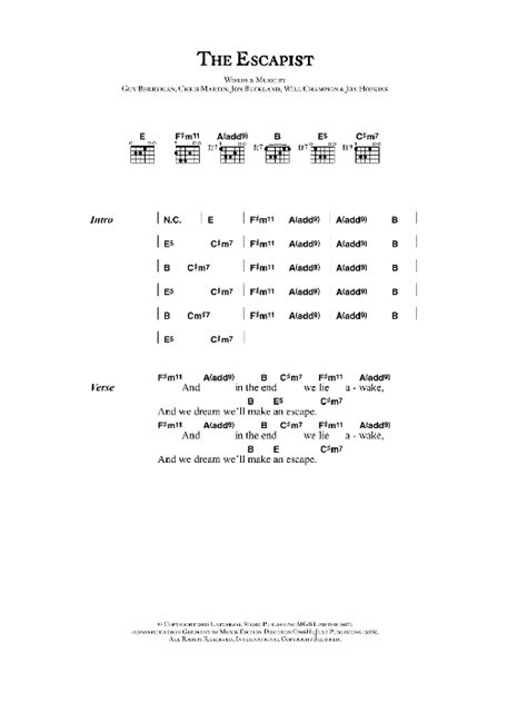 coldplay genre coldplay the escapist sheet music at stanton s sheet music
