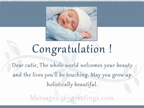 New Born Baby Greeting Card Messages new born baby wishes and newborn baby congratulation