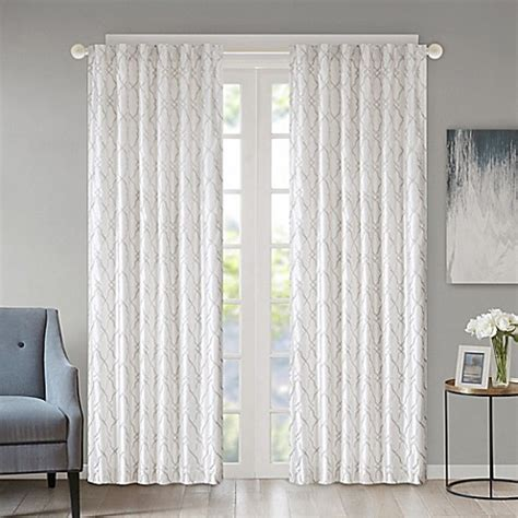 bed bath and beyond kendall regency heights kendall rod pocket back tab window curtain