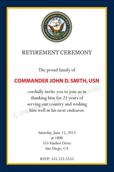 Army Retirement Quotes Quotesgram Free Guard Invitation Template