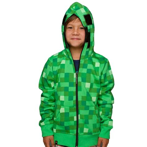 Hoodie Sweater Visual Studio Premium minecraft creeper premium zip up hoodie raccoongames es