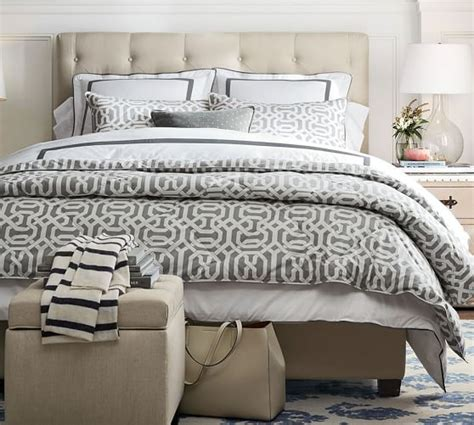 low bed headboard lorraine tufted low bed headboard pottery barn