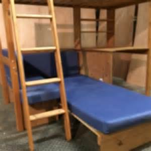 high sleeper bunk bed with sofa bed and desk for sale in