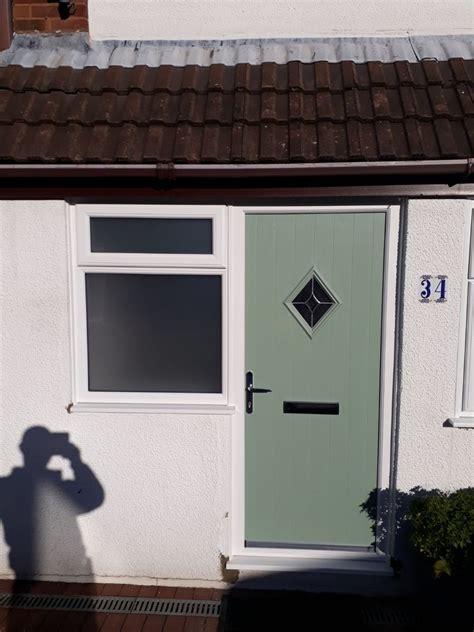composite doors  sage green