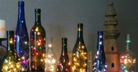 diy wine bottle string lights  created