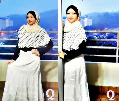 Wafi Top Atasan Blouse Zig Zag Hitam Putih qios everybody like us styling tips tips pemakaian skirt labuh panjang