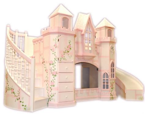 kids beds with slide castle theme bed w slide traditional kids houston