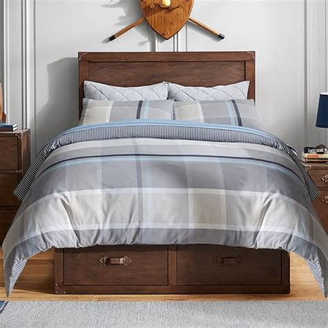 Reversible Duvet Cover Plaid Reversible Duvet Cover Sham Pbteen