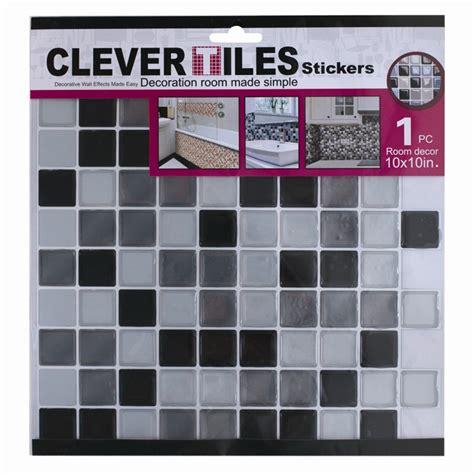 Stiker Mosaics Stiker Tempel self adhesive mosaic tile stickers bathroom kitchen transfers transform 10x10in ebay