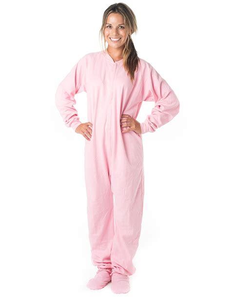 Piyama Pajamas Pink Baby Pink Cotton Footed Pajamas Pajamas