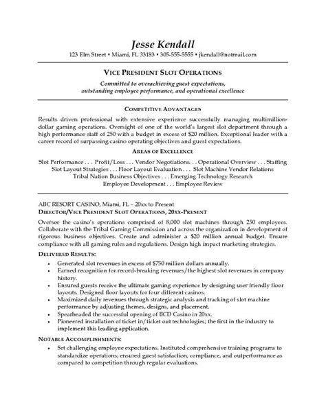 hotel resume objective best resume gallery