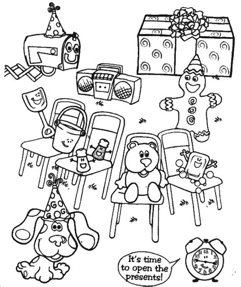 nick jr blue s clues coloring pages blues clues free coloring pages