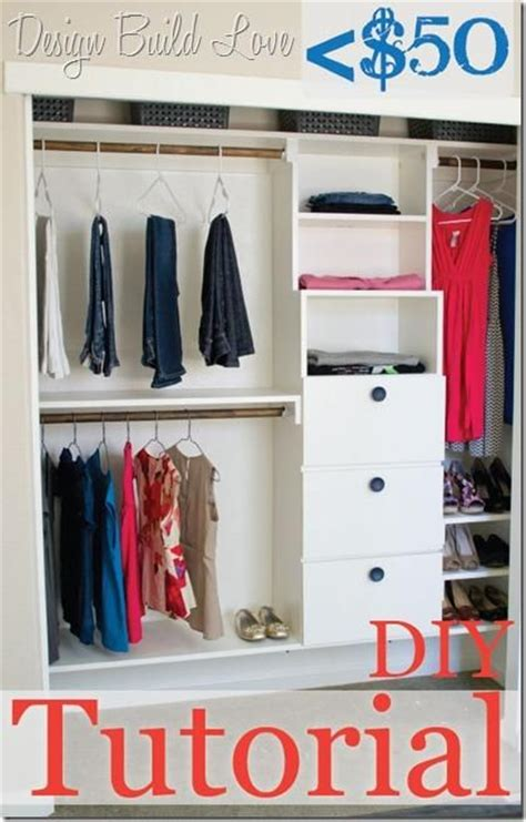 diy organization 50 handmade closet kit tutorial home