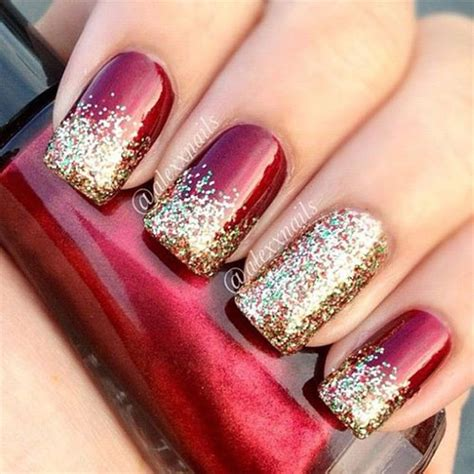 Glitter Nail Paint Design