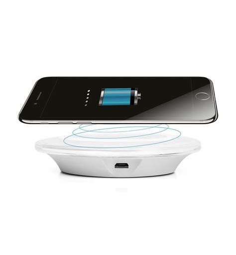 chargeur induction iphone 7 blanc dealmix
