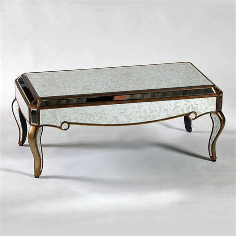 antique venetian mirrored coffee table in two finishes by
